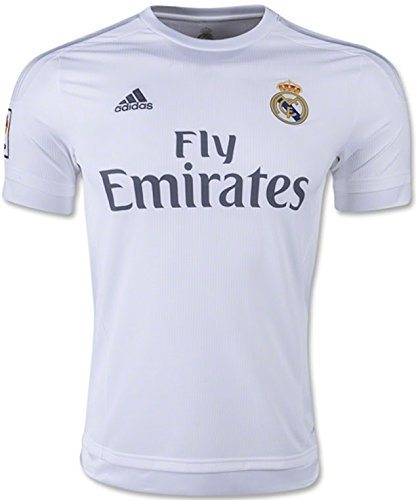 adidas Mens Real Madrid Home Replica Soccer Jersey